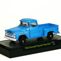 Mainan Diecast M2 Machines - 1958 Chevrolet Apache Step Side - Biru