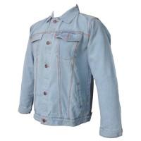 DEcTionS Jaket Jeans Pria Wash - Biru Muda