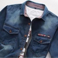 Men's business DP splicing denim jacket锛坆lue cs23锛?- in