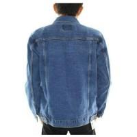 DEcTionS Jaket Jeans Pria Wash - Biru