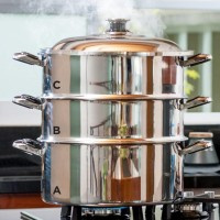 Dandang Stainless / Kukusan Siomay Batagor / Steamer Tulipware