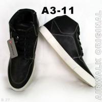 AIRWALK Original A3-11 Sepatu Sneakers Hitam Cowok-Cewek