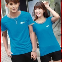 [Cp T-Shirt Levis Turkis CL] baju couple cotton combet turkis