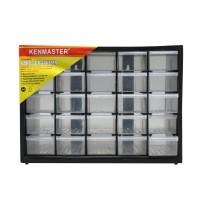 KENMASTER Rak / Kotak / Drawer Komponen 25 Slot Laci Partisi