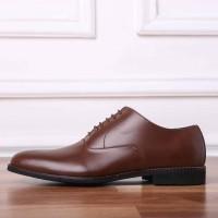 Clement Oxford Plaintoe Coklat Muda Heiden Shoes