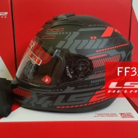 LS2 FF352 ROOKIE - TRON BLACK RED SILVER