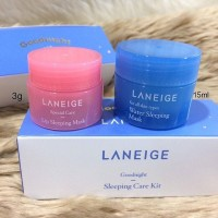 LANEIGE Good Night Sleeping Water Kit Wsm 15ml + Lip Lsm 3gr Masker