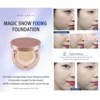Jual April Skin Magic Snow Fixing Foundation Spf 50/PA++ - Cushion Original Murah