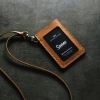 ID Card / Name Tag Holder Kulit / Dompet Id Card - Custom Nama
