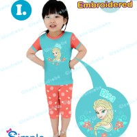 harga S-gw15-i- Piyama Anak Bordir - Frozen Elsa Size 95-140 Tokopedia.com