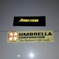 sticker mobil umbrella corporation logo