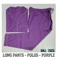 Piyama Ukuran Besar - Polos Big Long Pants Pajamas