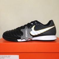 Sepatu Futsal Nike Tiempo X Ligera IV IC Black White 897765-002 Ori