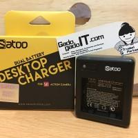 harga Satoo Charger Adaptor Dual Battery For Action Camera Xiaomi Yi 1 Basic Tokopedia.com