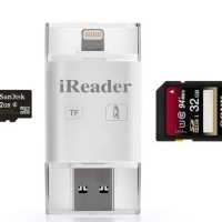 Jual iReader USB Micro SD SDHC Card Reader for iOS Android PC Murah