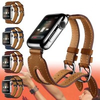 Original Apple Watch Hermes Etoupe Double Buckle Cuff Kulit Strap