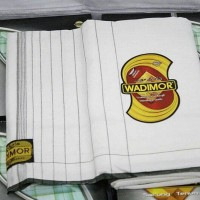 SARUNG WADIMOR HITAM/PUTIH SHOLAT POLOS CORAK DEWASA SOLAT