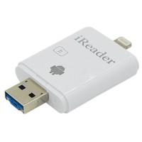 Jual iReader Lightning Card Reader Micro SD Slot - White Murah