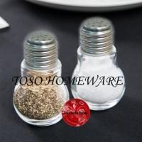 Bohlam Glass Salt Pepper S Tempat Bumbu Lada Garam Merica Light Bulb