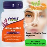 Now Foods Astaxanthin 4 mg 60 Veggie Softgels Kesehatan Mata