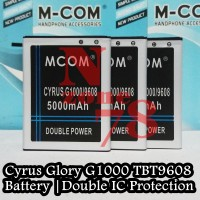 Baterai Cyrus Glory G1000 Tbt9608 Double Power Protection