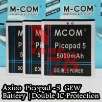 Baterry Axioo Picopad 5 Gew Mcom Double Power Protection