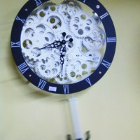 Jam Dinding Roda Mekanikal Wall Gear Clock Mechanical with Tail