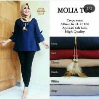 MOLIA TOP - baju kerja wanita model terbaru termurah - blouse tunik