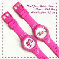 Jam tangan custom karakter Barbie murah (bisa req nama/tgl/gambar)