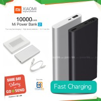 Jual Versi Baru! Xiaomi Mi Power Bank 2 10000mAh Original, Slim Fast Charge Murah