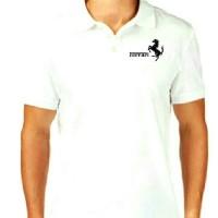 Kaos Pria Polo Shirt T-shirt Baju Fashion Pria Ferrari logo