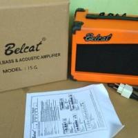 Jual Ampli Gitar Belcat 15G Distorsi Orange Murah