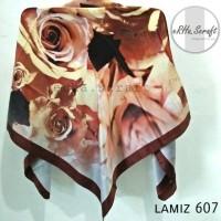 Jual lamiz 607 hijab jilbab kerudung segiempat satin silk lamiz Murah