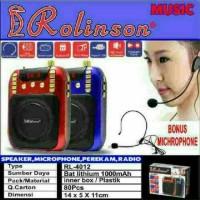 Speaker Radio Perekam Microphon Rolinson RL 4012