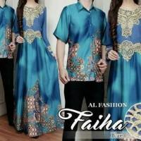 Baju batik couple sarimbit seragam pesta gamis hijab terbaru modern
