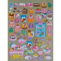 Sticker Stiker Anak Timbul Ice Cream & Cake