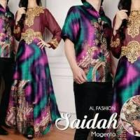 Baju batik couple sarimbit seragam pesta gamis muslim terbaru modern