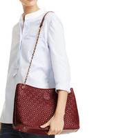 Tory Burch Marion Quilted Chain slouchy berry