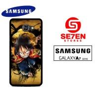 Casing Samsung A7 2016 one piece luffy background wallpaper Custom