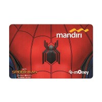 Mandiri E-Money Spiderman Logo / Suit (Emoney Homecoming) (BARU)
