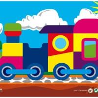 Mainan Edukatif Puzzle Sticker Gambar Kereta Api utk Anak Usia 3-4 Thn