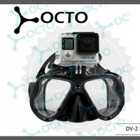 Diving Mask Octo DV2 Minus (-2.00 s/d -9.00) - Black Colour