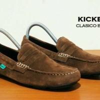 Jual Sepatu Kickers Slip on Pria / Sepatu Casual Kulit Asli Slop Murah Murah