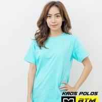Kaos Polos Cotton Combed 20s Lengan Pendek Dewasa Size S - Warna