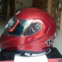 Helm KYT RRX Modular Red Maroon Fullface Flip Up Merah Maron Full
