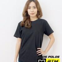 Kaos Polos Cotton Combed 30s Lengan Pendek Hitam Size 2XL