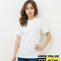Kaos Polos Cotton Combed 20s Lengan Pendek Dewasa Putih Size L