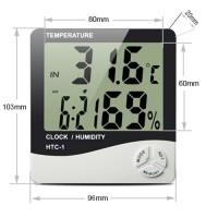 Hygrometer Thermometer Clock Digital | HTC-1