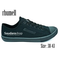 Rhumell Sepatu Sekolah Hitam [38-43] / Sepatu Sekolah All Black