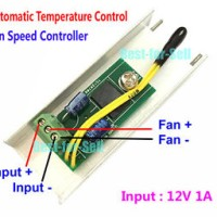 DC 12V 1A PC CPU Fan Automatic Temperature Control Thermostat Speed Co